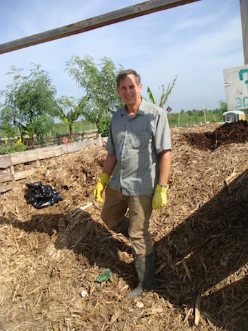 Dr. Gary Andersen of Lawrence Berkeley National Laboratory stands in a SOIL copmost bin