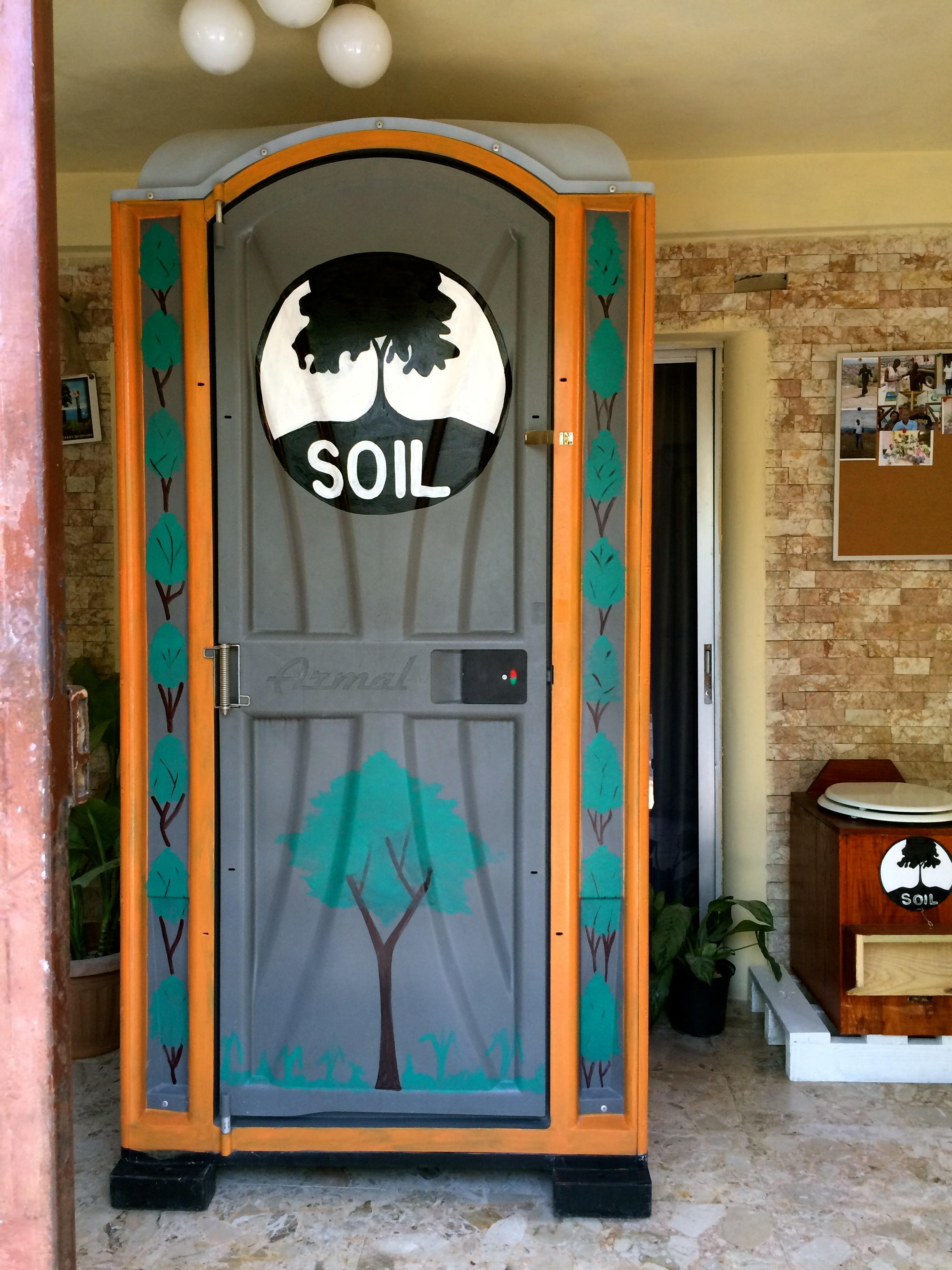 This beautiful SOIL EkoMobil toilet was formerly a Port-o-Potty, but now it is a dry EcoSan toilet!