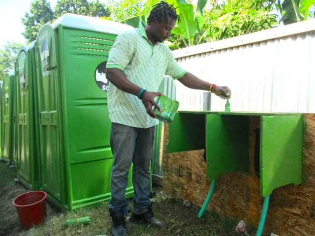 Putting the finishing touches on at Kannkota Community School in Leogane.