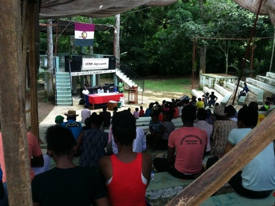 The crowd of onlookers during the SOIL presentation