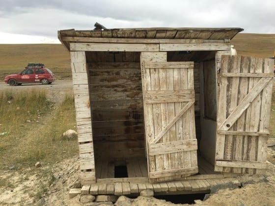 Mongolian outhouse
