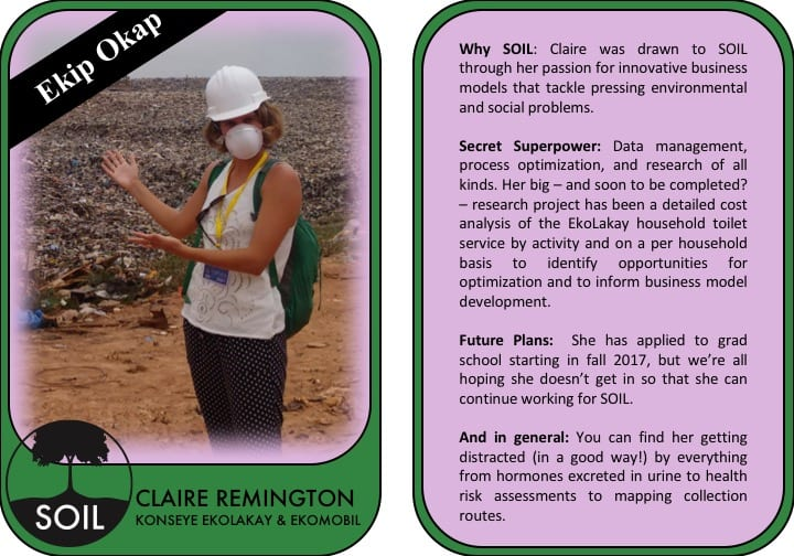 Claire Trading Card