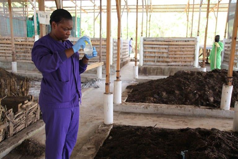 Testing Compost in Cap Haitien, Haiti
