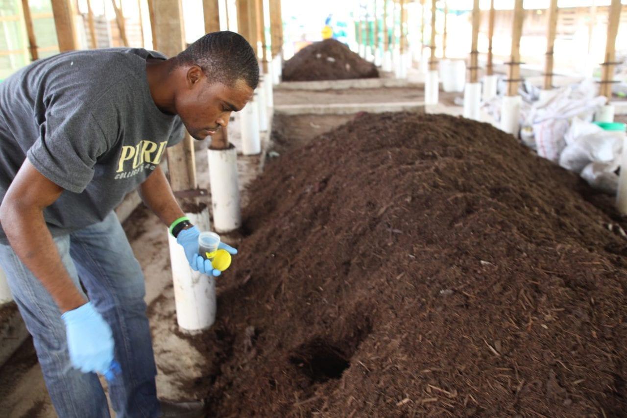 Compost Testing in Cap, Haitien, Haiti